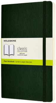 Notitieboek Moleskine L 130x210mm blanco myrtle green