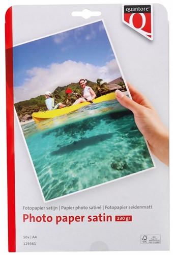 Fotopapier Quantore A4 230gr mat satijn 50vel