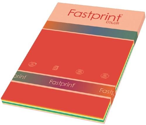 Kopieerpapier Fastprint A4 80gr 10kleuren x25vel 250vel