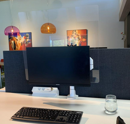 Filex hygiëne vesa acryl scherm 80x60 1 monitor L