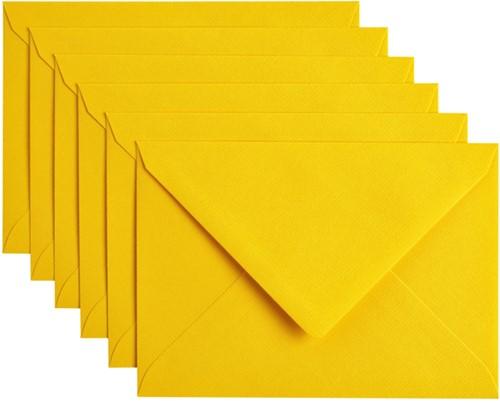 Envelop Papicolor C6 114x162mm Dottergeel