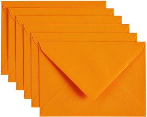 Envelop Papicolor C6 114x162mm Oranje