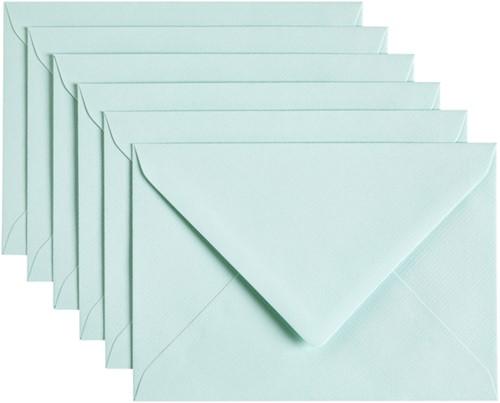 Envelop Papicolor C6 114x162mm Zeegroen