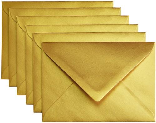 Envelop Papicolor C6 114x162mm Goud