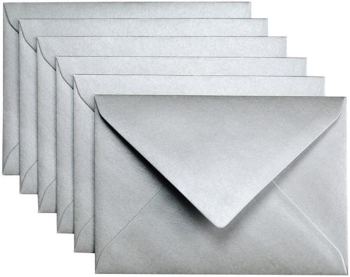 Envelop Papicolor C6 114x162mm Zilver