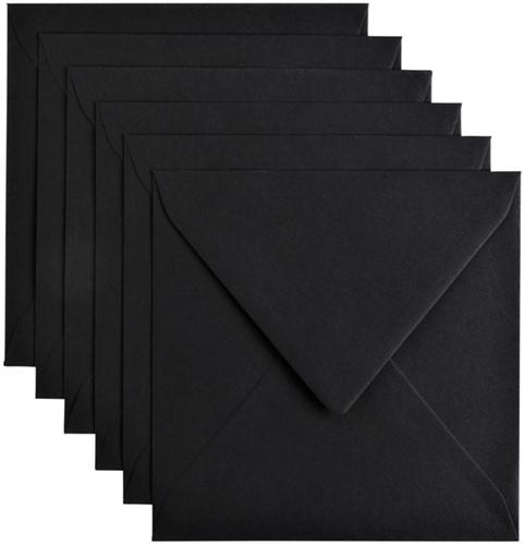 Envelop Papicolor 140x140mm Ravenzwart