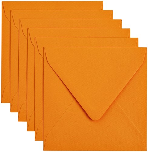 Envelop Papicolor 140x140mm Oranje