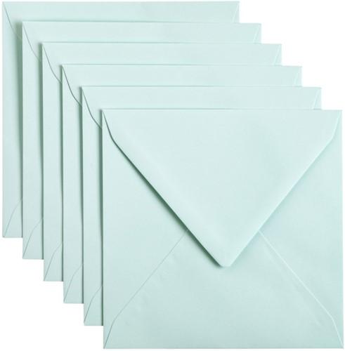 Envelop Papicolor 140x140mm Zeegroen