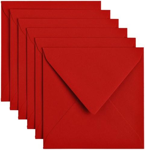 Envelop Papicolor 140x140mm Rood