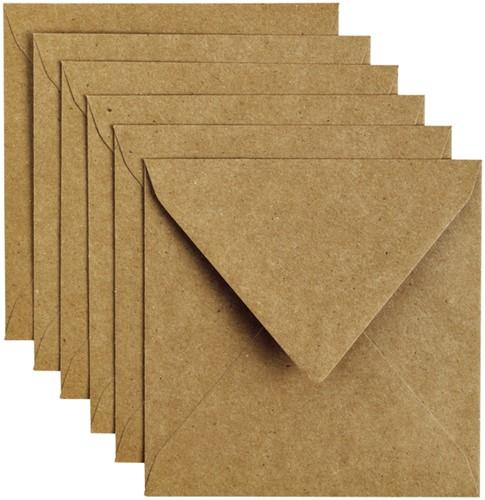 Envelop Papicolor 140x140cm Kraft bruin
