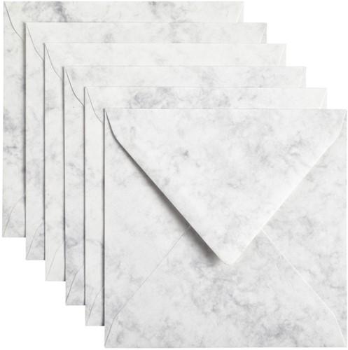 Envelop Papicolor 140x140mm Marble grijs