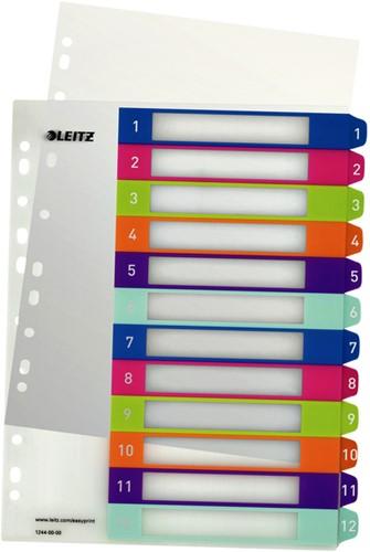 Tabbladen Leitz WOW 11-gaats 1-12 PP assorti-3