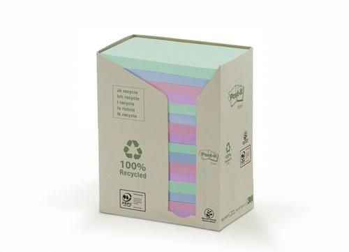 Memoblok 3M Post-it 655 76x127mm recycled rainbow pastel