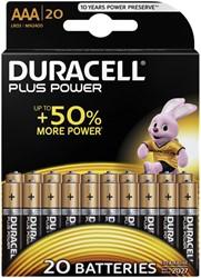 Batterij Duracell Plus Power 20xAAA alkaline