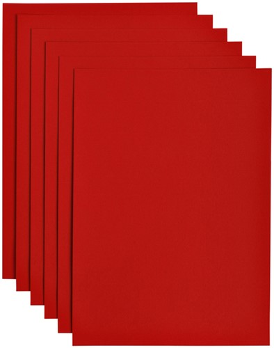Kopieerpapier Papicolor A4 100gr 12vel rood