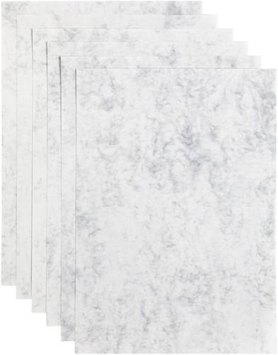 Kopieerpapier Papicolor A4 200gr 6vel marble grijs