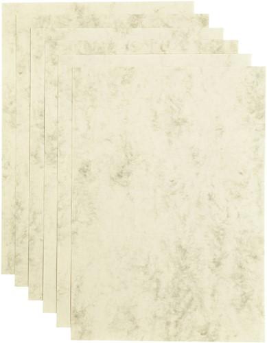 Kopieerpapier Papicolor A4 90gr 12vel marble ivoor
