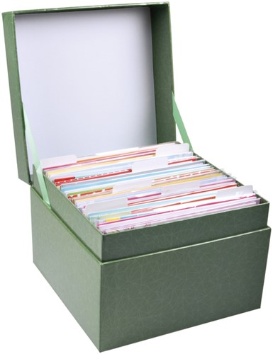 Wenskaartenbox Paperclip met inhoud