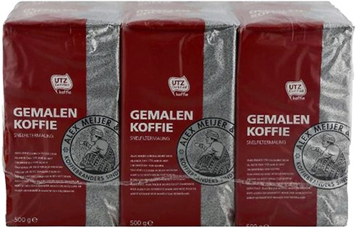 Koffie Alex Meijer Roodmerk snelfiltermaling 500gr-2