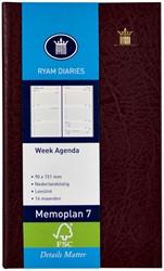 Agenda 2019 Ryam memoplan 7 staand Mundior bordeaux