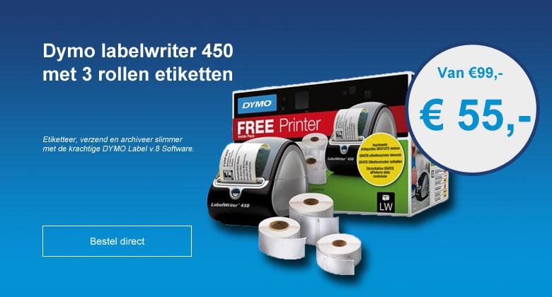 Labelprinters van Dymo voor de scherpste prijs