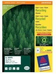 Recycled etiketten voor printers