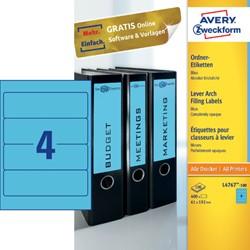 Rugetiket Avery breed 61x192mm zelfklevend blauw