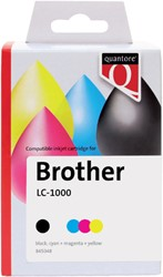 Inkcartridge Quantore Brother LC-1000 zwart + 3 kleuren