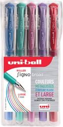 Gelschrijver Uni-ball Signo Broad metallic ass 0.6mm à 5st