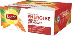 Thee Lipton Energise English Breakfast 100stuks