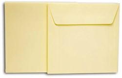 Dubbele kaarten +enveloppen Papyrus 130x130mm wit