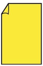 Correspondentiekaart 85x128mm fel geel