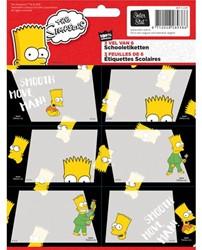 Schooletiketten Simpsons