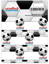 Schooletiketten Voetbal International