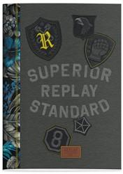 Schrift Replay boys (A4) lijn