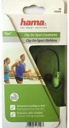 Oortelefoon Hama Clip on Run groen/zwart