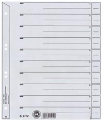 Scheidingsbladen Leitz A4 karton 200gr 6-gaats grijs