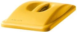 Afvalbakdeksel slim jim geel met handgreep