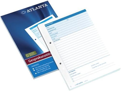 Gespreksnotitieblok Atlanta A5 100vel