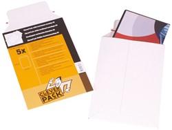 Envelop CleverPack A5 176x250mm karton wit 5stuks