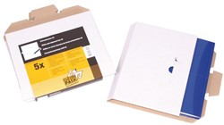 Brievenbusbox CleverPack A5 230x160x26mm karton wit 5 stuks