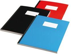 Schrift met harde kaft A5 160blz gelinieerd assorti