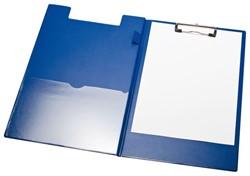 Klembordmap LPC A4/Folio met 100mm klem + penlus blauw