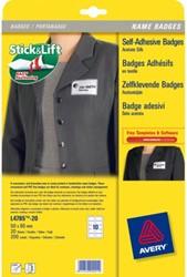 Badges zelfklevend