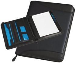 Schrijfmap Rillstab Maastricht A4 40mm lederlook zwart