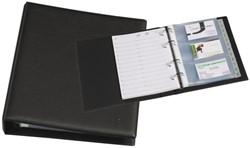 Visitekaartenringband Rillstab 18730 A5 kunststof zwart