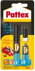 Secondelijm Pattex all plastic tube 3gram op blister