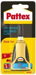 Secondelijm Pattex Gold gel tube 3gram op blister