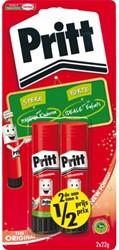 Lijmstift Pritt 22gr op blister 2e halve prijs