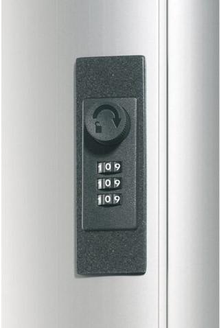 Sleutelkast Durable 1966 aluminium 36haken 310x305x125mm-2